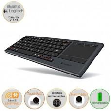 Logitech clavier avec touchpad - Illuminated K830